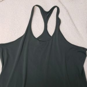Olive racer back exercise tank top